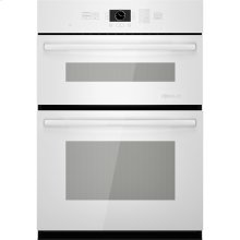"""Combination Microwave/Wall Oven with MultiMode® Convection, 30"""", Floating Glass White"""