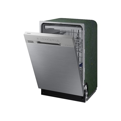 Front Control Dishwasher with Hybrid Interior in Stainless Steel