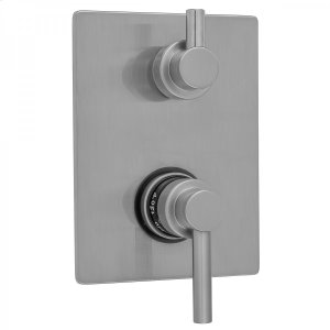 Antique Brass - Rectangle Plate with Contempo Low Lever Thermostatic Valve with Contempo Short Peg Built-in 2-Way Or 3-Way Diverter/Volume Controls (J-TH34-686 / J-TH34-687 / J-TH34-688 / J-TH34-689) Product Image