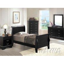 Black Finish Full Size Bedroom Set