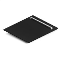 "24"" Dishwasher Panel in Black Matte with Traditional Handle (DP-BLM-24)"