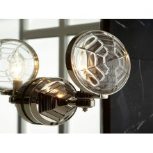 Wall Sconce, Less Lens - Nickel Silver