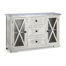Anita Wooden Cabinet with Metal Top