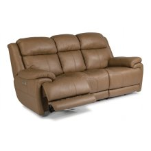 Elijah Leather Power Reclining Sofa with Power Headrests