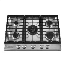 30-Inch 5 Burner Gas Cooktop, Architect® Series II - Stainless Steel