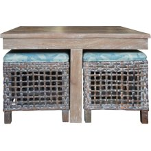Hassock Table, Available in Vintage Smoke Finsih Only.