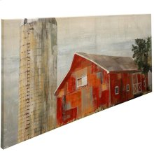 Barnside Silo Stretched Canvas