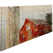 Barnside Silo Stretched Canvas