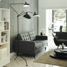 View Stainless Steel Floor Lamp in Black Product Image