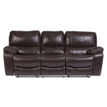 Ramsey Brown Leather-Look Sleeper Sofa, M6013S