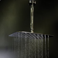 "Ceilling mount tilting square rain shower head with ultra thin edge and flow regulator 3.1 gal/m, 90 rubber nozzle. Arm and flange sold separately. 12""x8"""