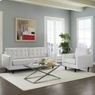 Empress Sofa and Armchair Set of 2 in White Product Image