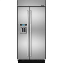 "Built-In Side-By-Side Refrigerator with Water Dispenser, 42"", Pro-Style® Stainless Handle"
