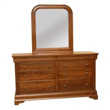 Bordeaux Dresser & Sleigh Rounded Mirror