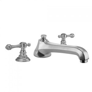 Antique Brass - Westfield Roman Tub Set with Low Spout and Majesty Lever Handles Product Image