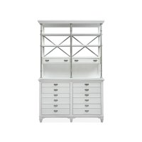 Server with Hutch - White Product Image
