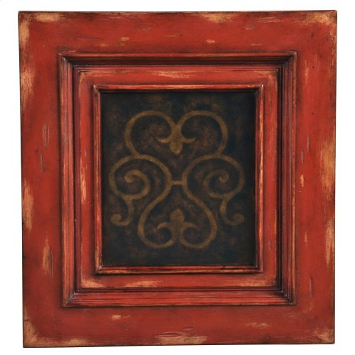 Medallion Tall Cabinet - Antique Red