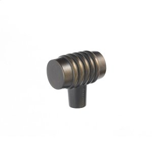 Oil Rubbed Bronze Stacked Knob 1 1/4 Inch Product Image