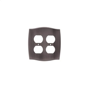 Double Duplex Colonial Switch Plate - Pewter Product Image