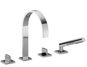 Deck-mounted tub mixer, with hand shower set for deck-mounted tub installation - chrome Product Image