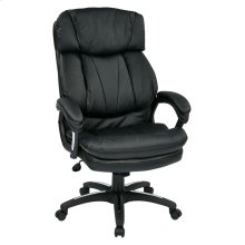 Oversized Faux Leather Executive Chair