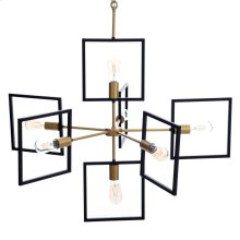 COMO CHANDELIER  Painted Gold and Black Finished Metal