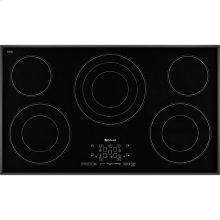 "Black Floating Glass 36"" Electric Radiant Cooktop with Glass-Touch Electronic Controls, Black"