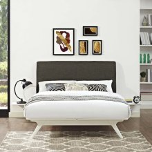 Tracy 3 Piece King Bedroom Set in White Brown
