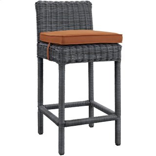 Summon Outdoor Patio Sunbrella® Bar Stool in Canvas Tuscan