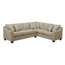 Emerald Home Calvina 2pc Sectional W/6 Pillows Cream U4242-11-12-09-k