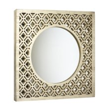 Square Wood Trellis Mirror, Wb
