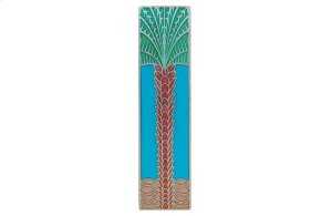 Royal Palm (Vertcal) - Brilliant Pewter/Turquoise Product Image