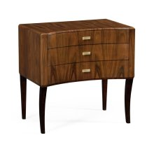 Art Deco Satin Curved Chest of Drawers