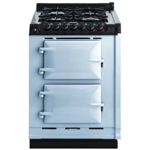 """AGA Module 24"""" Electric/Natural Gas Duck Egg Blue with Stainless Steel trim"""