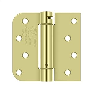 "4""x 4""x 5/8""x SQ Spring Hinge, UL Listed - Zinc Dichromate Product Image"