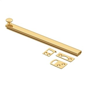 """8"""" Surface Bolt, Concealed Screw, HD - PVD Polished Brass Product Image"""
