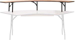 60'' Radius Bar Top Riser with Black Legs Product Image
