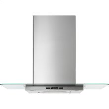 """Glass Collection Wall-Mount Canopy Hood, 30"""", Euro-Style Stainless Handle"""