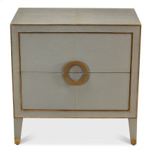 Leather Embossed Shagreen Night Stand