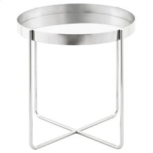 Gaultier Side Table  Silver