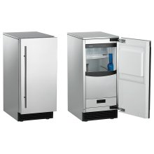 "15"" Scotsman Ice Maker - Brilliance ® Cuber, 30lbs, Built-In Pump, Panel-Ready"
