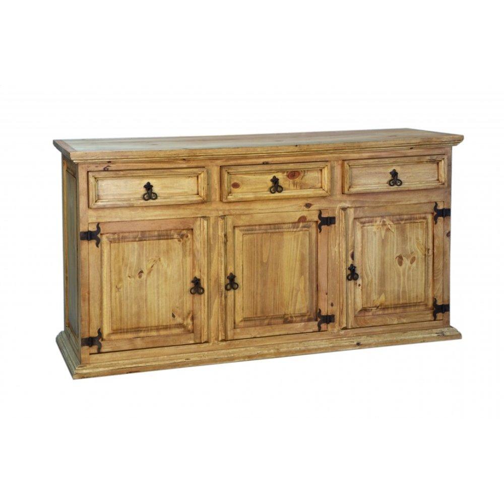 Traditional 3 Door 3 Drawer Sideboard