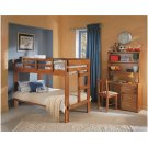 Heartland 2 x 6 One Piece Bunk Bed with options: Honey Pine, Twin over Twin, Twin Trundle Product Image