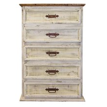 White 5 Drawer Chest
