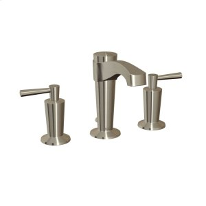 Widespread bathroom sink faucet with drain - Brushed nickel Product Image
