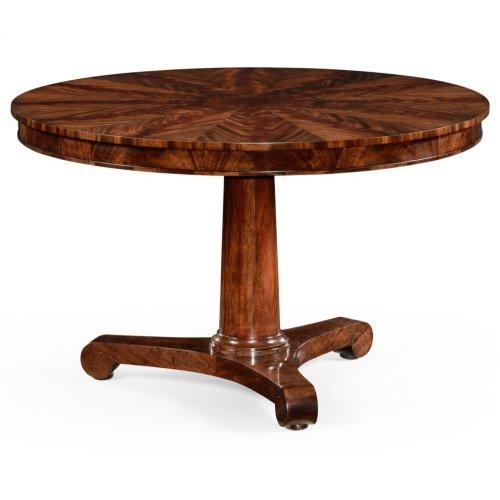 Flame mahogany Biedermeier breakfast table