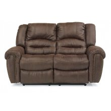 New Town Fabric Power Reclining Loveseat with Power Headrests