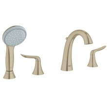 Agira Four-Hole Roman Bathtub Faucet with Handshower