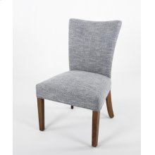 Curved back wood leg Parsons' chair