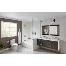 "White Wicker Park Rectangular 8"" Centers Above Counter Bathroom Sink"
